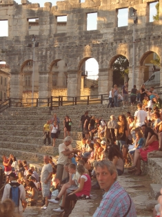 Croatia 2011 Pula amphitheatre concert audience IMGP2196