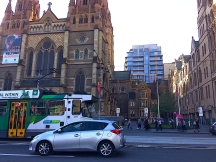 Melbourne CBD Easter 2017 architecture and tram