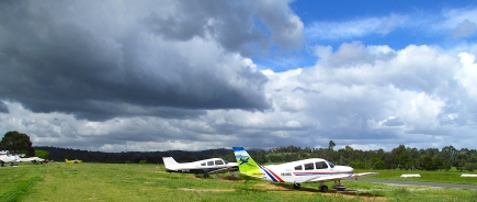 Yarra Valley Flight Training plane Coldstream Airlfield Oct 30 2017