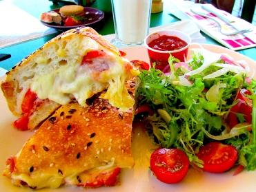 Yarra Valley Choc toasted ham cheese