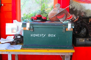 King Island Currie Boathouse honesty box
