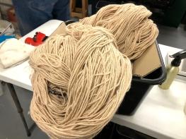 Alpaca wool processed Omaru Aug 2018