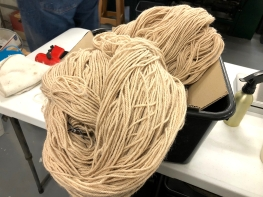 Alpaca wool processed Omaru Aug 2018