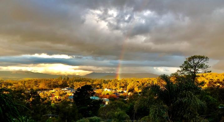 Lilydale Aug 2018 rainbow Yarra Valley