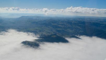 Liquid clouds in valley Victoria flight to Deniliquin