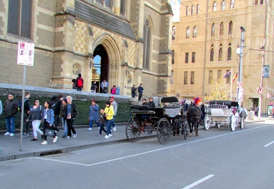 Melbourne Aug 2018 horse carriages