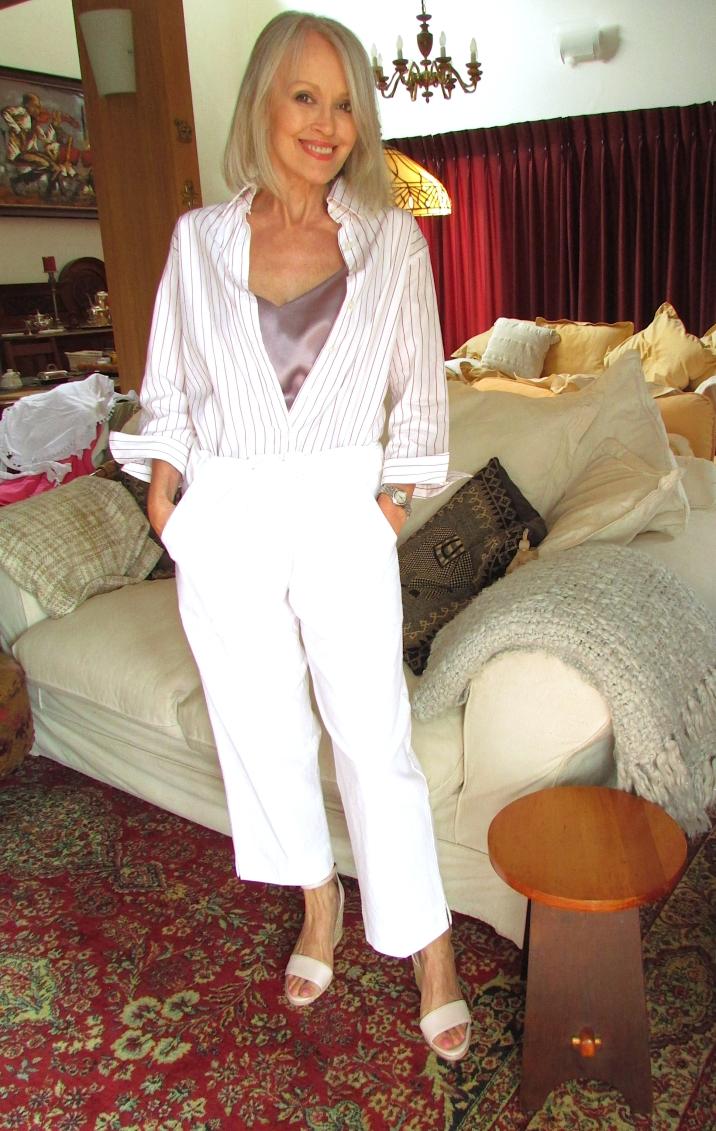 Tilly self sixty a white stripe shirt camisole zigi cotton 20 Feb 2019