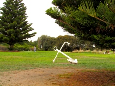 Apollo Bay anchor mid-town 30 Apr 2019