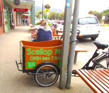 Apollo Bay scallop bike cart 30 Apr 2019
