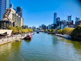 Melbourne city Yarra River 7 April 2019