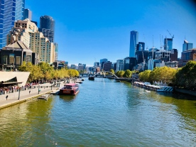 Melbourne city Yarra River 7 April 2019