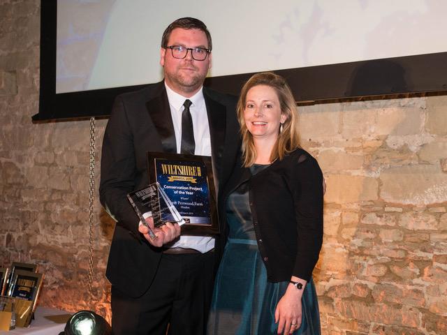 Pertwood Wiltshire Life award 2019 Nick Adams and Tamara