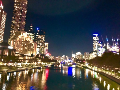 Melbourne Yarra River night May 2019