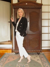 tilly self sixty beauty a1 white CR pants black decjuba blazer 28 Aug 2019