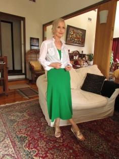 tilly self sixty CR green aa dress white shirt 31 Dec 2019 IMG_2887