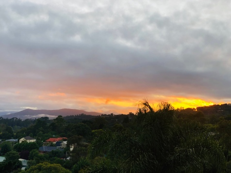 Lilydale bright sunrise March 2020