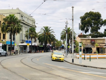 Melbourne St Kilda and tram 27 Feb 2020